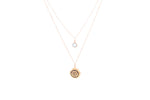 THROAT CHAKRA Visuddha Double Strand Necklace 18K Gold Vermeil