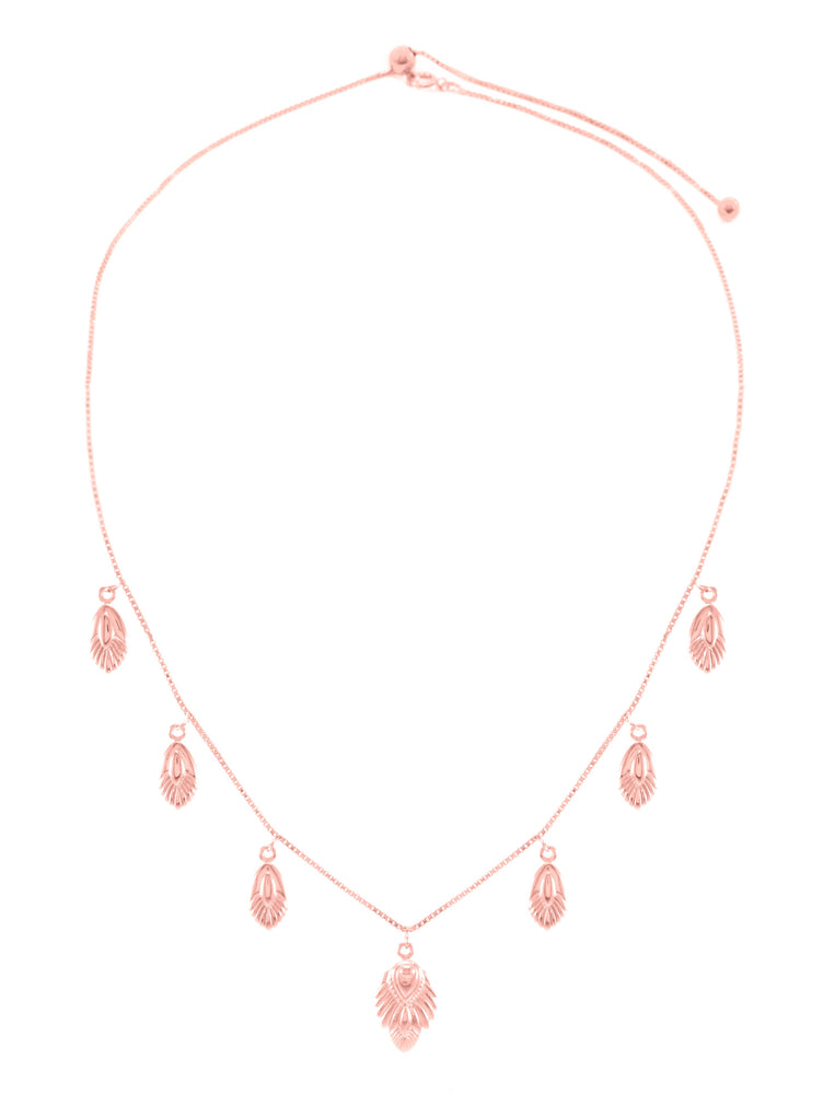 Artemis Slider Necklace, Rose Gold Vermeil