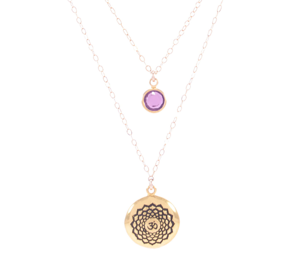 CROWN CHAKRA Sahasrara Necklace 18K Gold Finish/Gold Fill