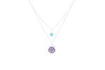 THROAT CHAKRA Visuddha Double Necklace White Rhodium/Sterling Silver