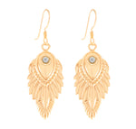 Celestial Wisdom Earrings, 18K Gold Vermeil, White Topaz