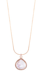 Clear Quartz Adjustable Necklace, 18K Gold Vermeil