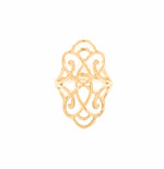 Infinite Love 18K Gold Vermeil Adjustable Foliate Ring