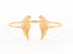 Divine Guidance Angel Wing Cuff Rose Gold Vermeil