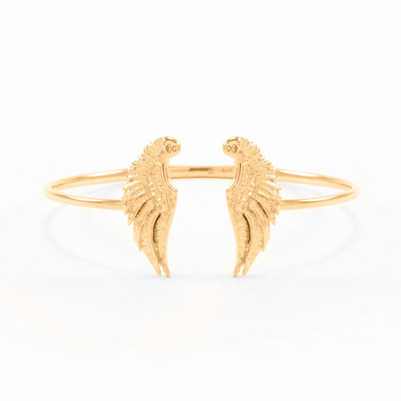Divine Guidance Angel Wing Cuff 18K Gold Vermeil