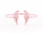 Divine Guidance Angel Wing Cuff White Rhodium