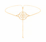 Seed of Life Choker/Y-Style Lariat, Reversible Necklace 18K Gold Vermeil