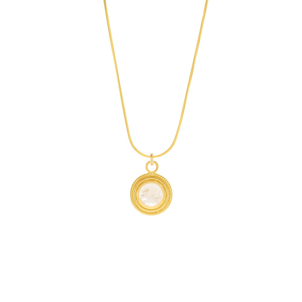 Moonstone Goddess Necklace, 18k Gold Vermeil