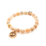 Solar Plexus Chakra Activation Bracelet Sunstone, Rose Gold Finish