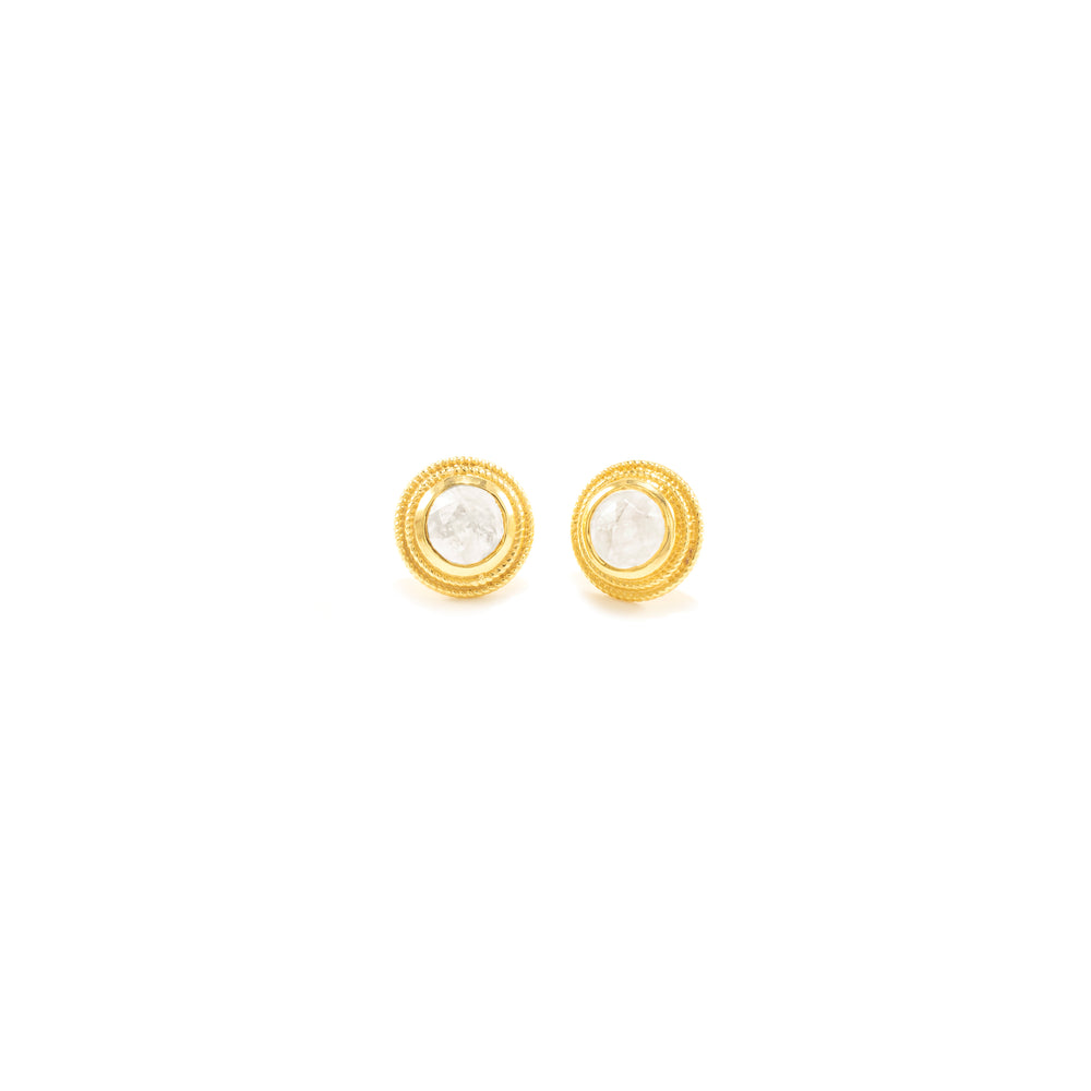 Moonstone Goddess Stud Earrings