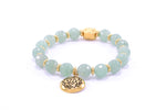 Heart Chakra Activation Aventurine Bracelet 18K Gold Finish