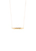 WAHE GURU 18K Gold Vermeil CZ Diamond Prayer Pendant