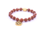 Root Chakra Activation Bracelet, Red Jasper 18K Gold