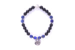 CHAKRA Third Eye/Brow Activation Bracelet, Lapis Lazuli & Black Onyx