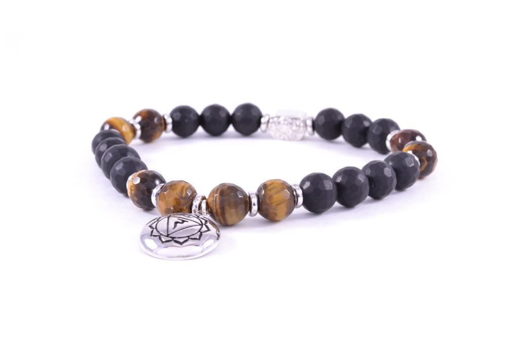 CHAKRA Solar Plexus Activation Bracelet, Black Onyx & Tiger's Eye