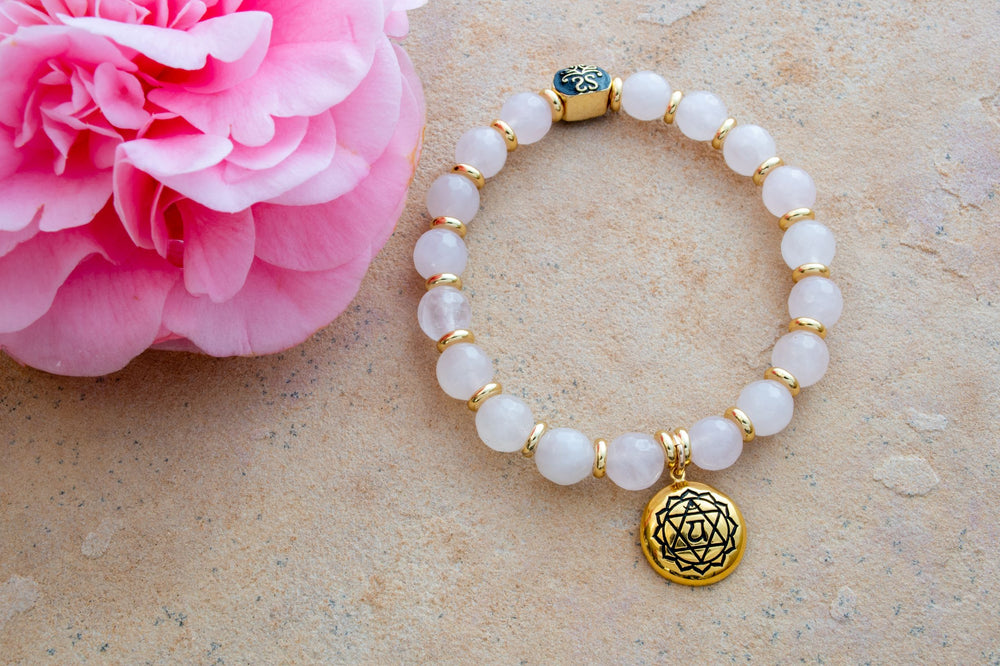 Heart Chakra Activation Rose Quartz Bracelet