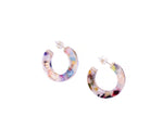 Multi-Colored Acetate Hoop Earrings