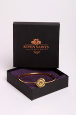CROWN CHAKRA Sahasrara Bangle, Amethyst, 18K Gold Finish