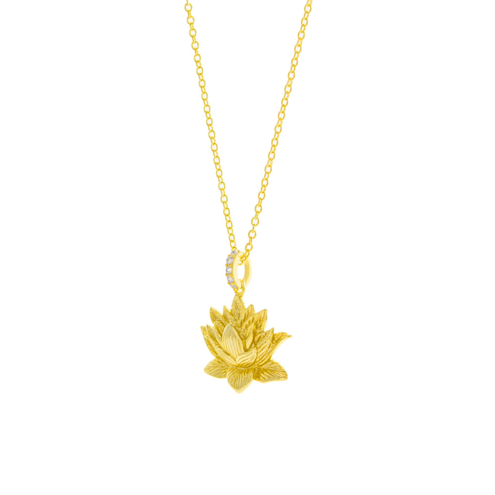 Awakened Lotus Necklace 18K Gold Vermeil