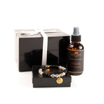Evolution Male Balance Gift Set with Root Chakra Bracelet, Rutiliated Quartz and Onyx