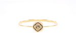 ROOT CHAKRA Muladhara Bangle, Red Garnet, 18K Gold Finish