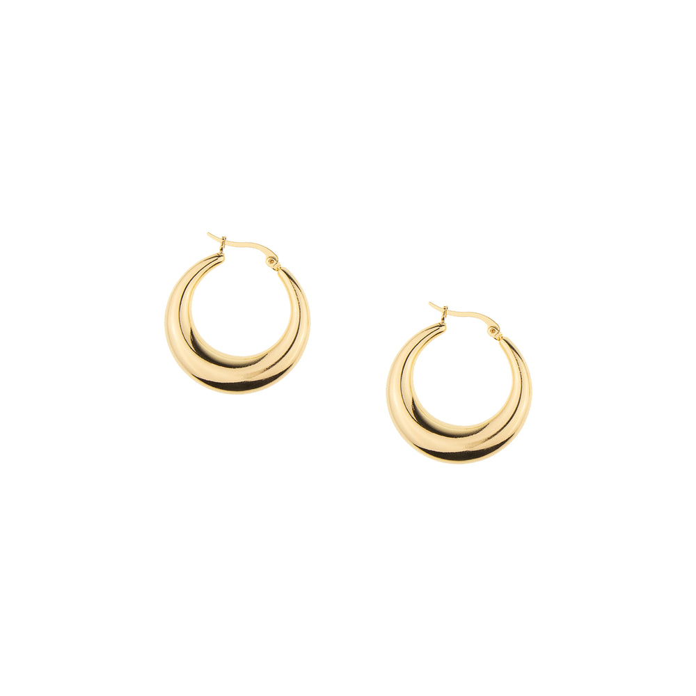 The Ultimate Gold Hoop Earring, 18k Gold Finished Stainless Steel