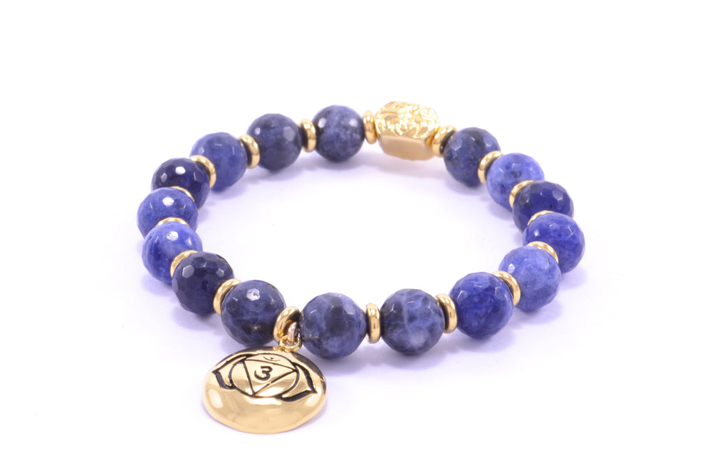 Brow Chakra Activation Bracelet 18K Gold Finish
