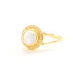 Moonstone Goddess Glow Ring, 18k Gold Vermeil, Seen in Vanity Fair UK