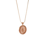 Sri Yantra Supreme Manifestor Necklace, Rose Gold Vermeil
