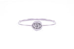 BROW CHAKRA Ajna Bangle, Iolite, White Rhodium Finish