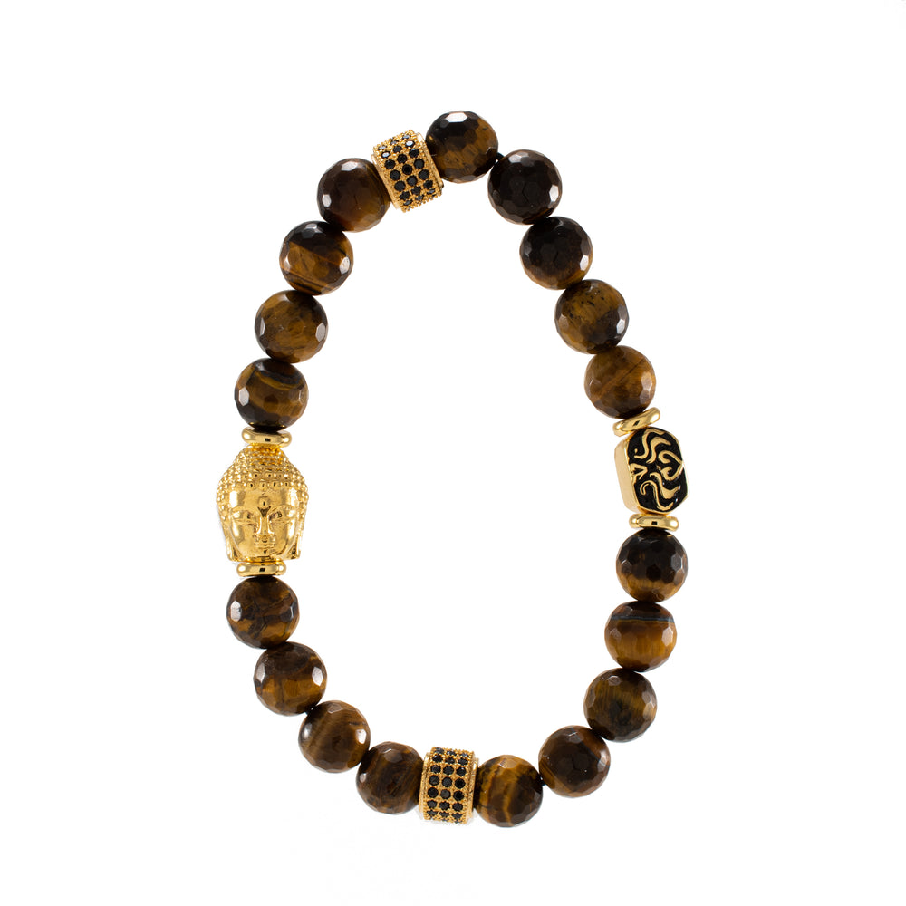 Focus and Clarity Meditate Gift Set, with Tiger's Eye Buddha Bracelet, Unisex