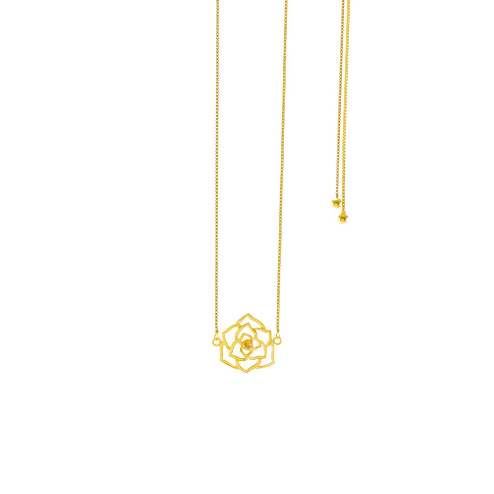 """Pure Heart"" Geometric Sliding Choker Necklace with Moonstone, 18K Gold Vermeil"