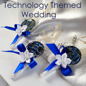Jewelry Sets for a Technology Themed Summer Wedding