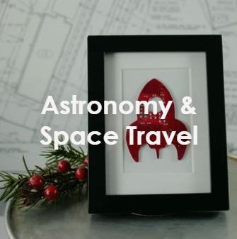 handmade circuit board rocket ship framed art and other astronomy and space travel themed gifts