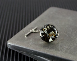 dark brown circuit board tie tack