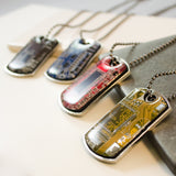 Circuit Board Dog Tag Necklace