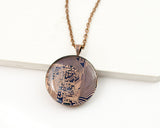 Copper Circuit Board Necklace - Medium Size