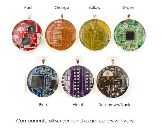 Circuit Board Gift Set - Retractable Badge Holder, Necklace