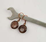 Circuit Board Earrings - Short Copper Earrings