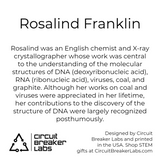 Rosalind Franklin Art Print - 4x6 matted to 5x7