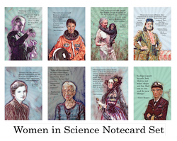 Women in Science Greeting Card Set of 8