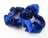 handmade galaxy and cosmos themed scrunchie