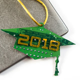 Circuit Board Graduation Cap Ornament