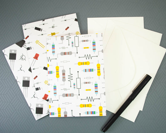 Electronic Components Greeting Card Set