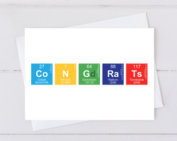 congrats congratulation card made from periodic table of elements