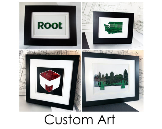 Custom Circuit Board Wall Art