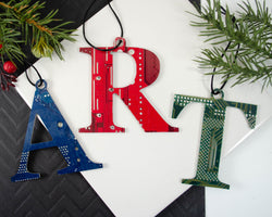 HANDMADE CIRCUIT board letter ornament