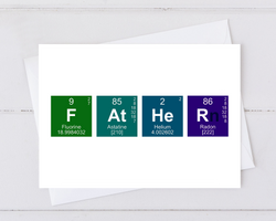 fathers day card made from the periodic table of elements
