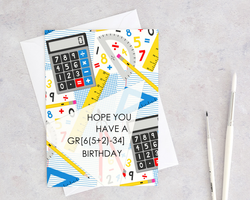 have a gr8 great birthday math card