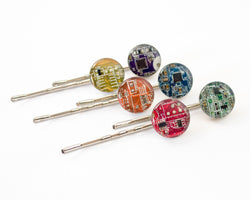Circuit Board Bobby Pins - Geeky Hair Pin - Nerdy Hair Clip - Gift for Her Under 25